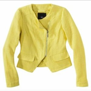Lemon Zest Yellow tweed blazer